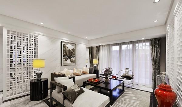 新中式风格100平米两室两厅客厅装修效果图 (7/7)图片