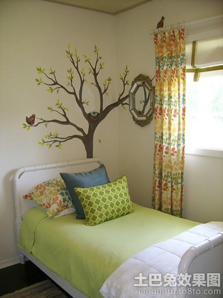 手绘卧室背景墙效果图欣赏装修效果图