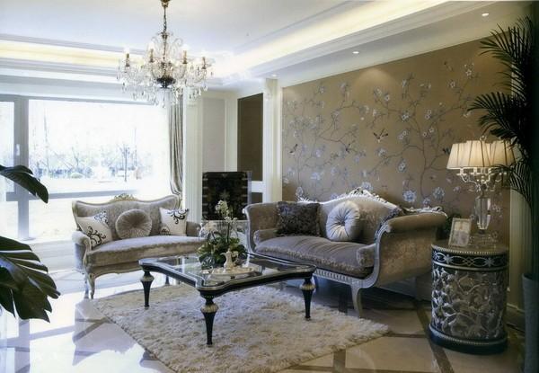 现代欧式风格客厅沙发背景墙效果图 (1/6)图片