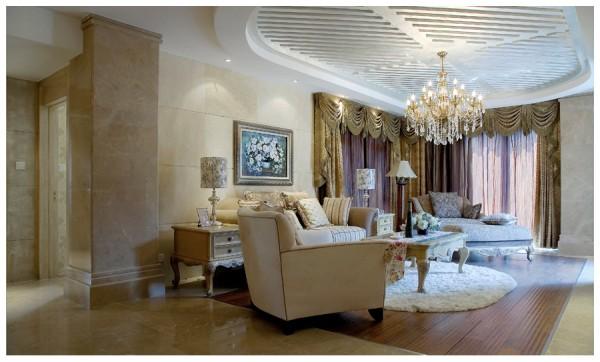 现代欧式风格客厅吊顶图片欣赏装修效果图_第7张图片