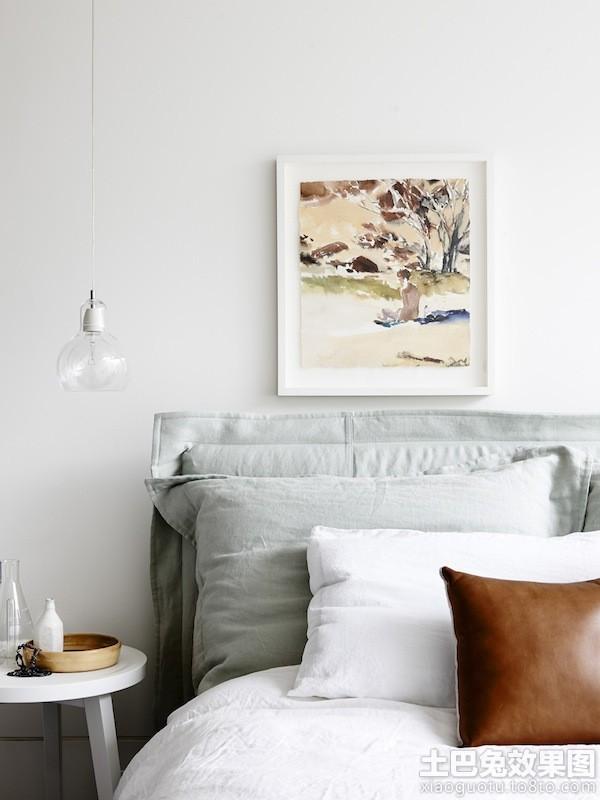 时尚北欧风格卧室背景墙装饰画图片装修效果图图片
