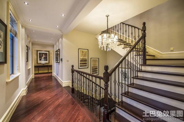 别墅楼梯地板木地板别墅书房图片15