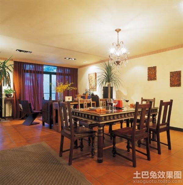 东南亚风格家庭餐厅简装效果图装修效果图