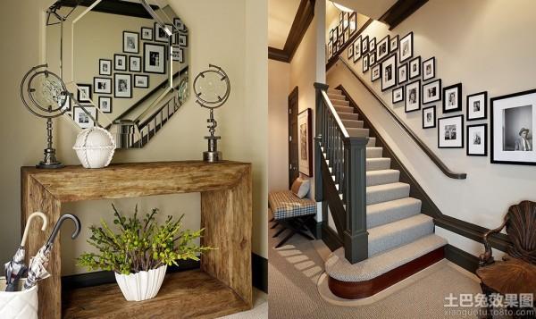 复式楼梯背景墙装修效果图大全装修效果图