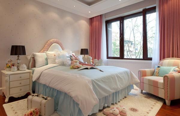 現代歐式風格三室兩廳溫馨臥室設計效果圖裝修效果圖
