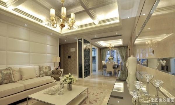 欧式家居客厅吊顶精装效果图片装修效果图