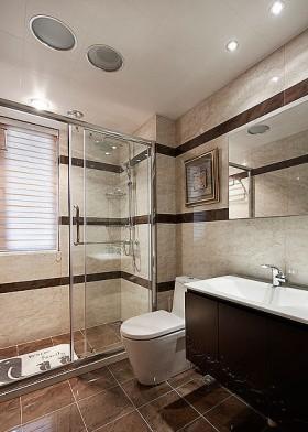 户型120平米浴室柜装修效果图大全2014图片_户型120柜
