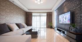 87平米简约风格客厅客厅窗帘装修图片