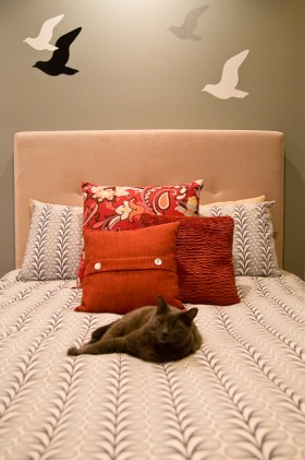 卧室 床头软包 暖色装修效果图大全2014图片 卧室 床头软高清图片