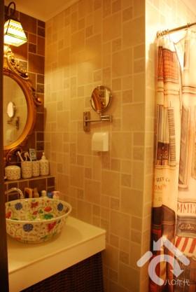 40平米装修,经济型装修,田园风格,可爱,暖色调装修,卫生间,洗手台.