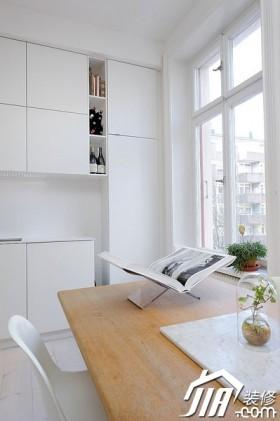颜色欧式风格白色小户型餐桌装修效果图大全2015图片