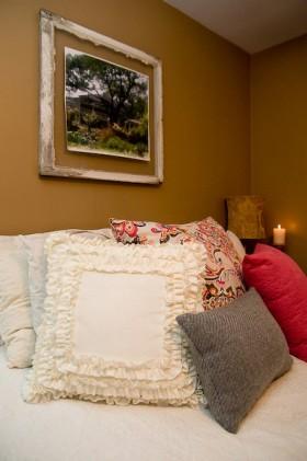 风格乡村风格卧室床头软包床装修效果图大全2014图片 高清图片