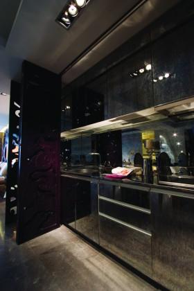欧式风格黑色大户型厨房# 实用装修效果图13