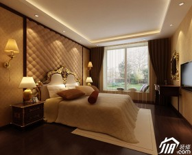风格三居室床头软包暖色装修效果图大全2014 高清图片