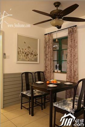 户型白色餐厅经济适用窗帘装修效果图大全2014图片_.