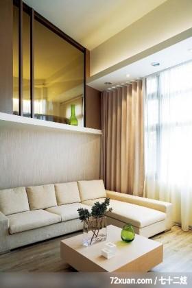 简约风格白色复式白领之家经济适用沙发背景墙在有限空间中,创造出图片