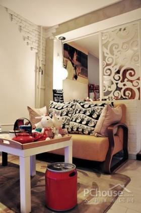 欧式风格小户型经济适用110平米沙发背景墙装修效果图