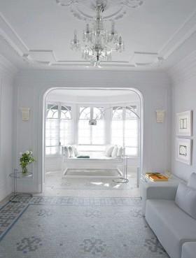 简约风格白色简约风格客厅吊顶装修效果图