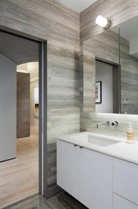 地板洗手台素雅清新的卫生间装修效果图大全2012图片