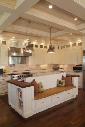 厨房吊顶开放式厨房设计图