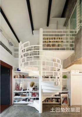 别墅小复式旋转楼梯装修效果图图片