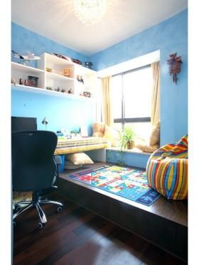 家装书房榻榻米地台装修效果图.