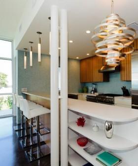 吧台橱柜2013家庭厨房吧台吊顶装修效果图
