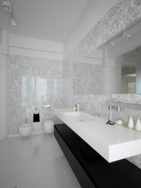 简约风格洗手台洗手间装修效果图