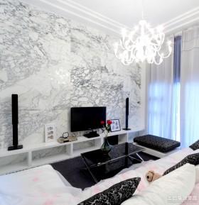电视背景墙欧式大客厅大理石背景墙装修效果图