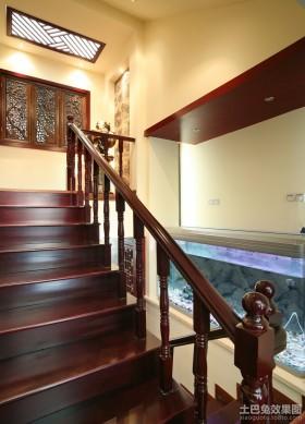 新中式楼梯装修效果图欣赏