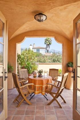 阳台吊顶欧式阳台花园装修效果图