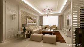 空间北欧风格北欧客厅沙发背景墙装修效果图图片