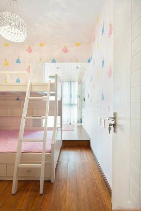 吊顶儿童房卧室上下铺床装修效果图