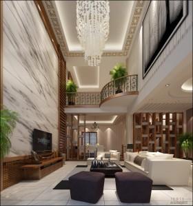 中式风格中式别墅客厅吊顶灯装修效果图大全2013图片