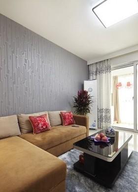 现代风格茶几现代50平米小户型新房客厅装修效果图
