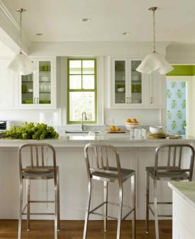 吧台欧式小厨房吧台装修效果图