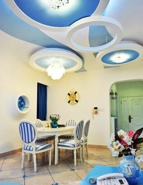 餐厅地中海风格装修吊顶效果图
