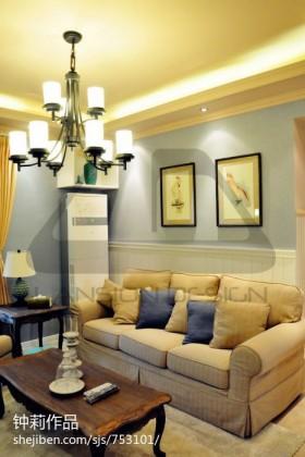 空间沙发背景墙现代家居客厅沙发装修设计图
