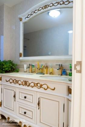 空间欧式风格欧式卫生间洗手台装修效果图