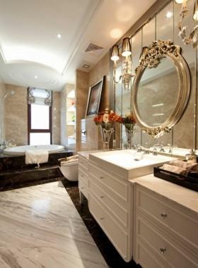 欧式风格卫生间欧式长方形卫生间装修效果图欣赏
