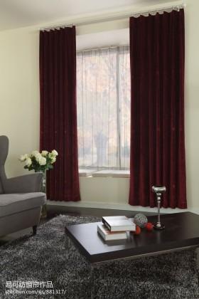 客厅飘窗落地窗帘装修效果图
