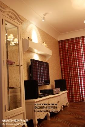 欧式风格窗帘欧式客厅电视背景墙壁纸效果图