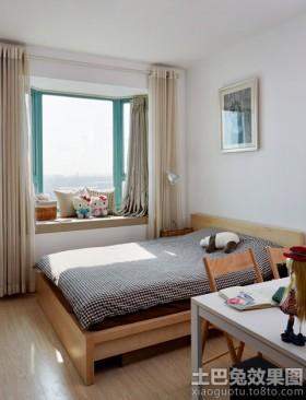 臥室飄窗落地窗簾裝修效果圖