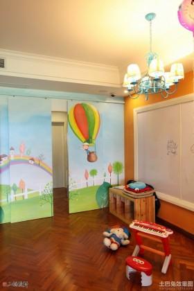 儿童房儿童房手绘隐形门效果图