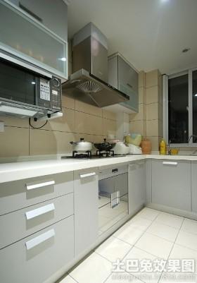 现代l型厨房橱柜设计效果图