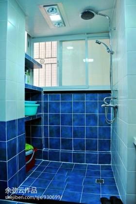 颜色卫生间浴室蓝色瓷砖图片