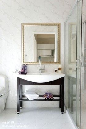 欧式风格洗手台洗手间装修效果图片大全