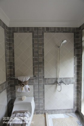 欧式风格淋浴室瓷砖效果图欣赏