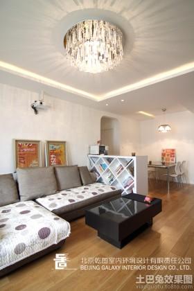 小户型现代风格小户型客厅吊顶装修效果图片大全