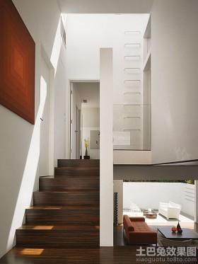 复式楼梯现代复式楼实木楼梯装修效果图片